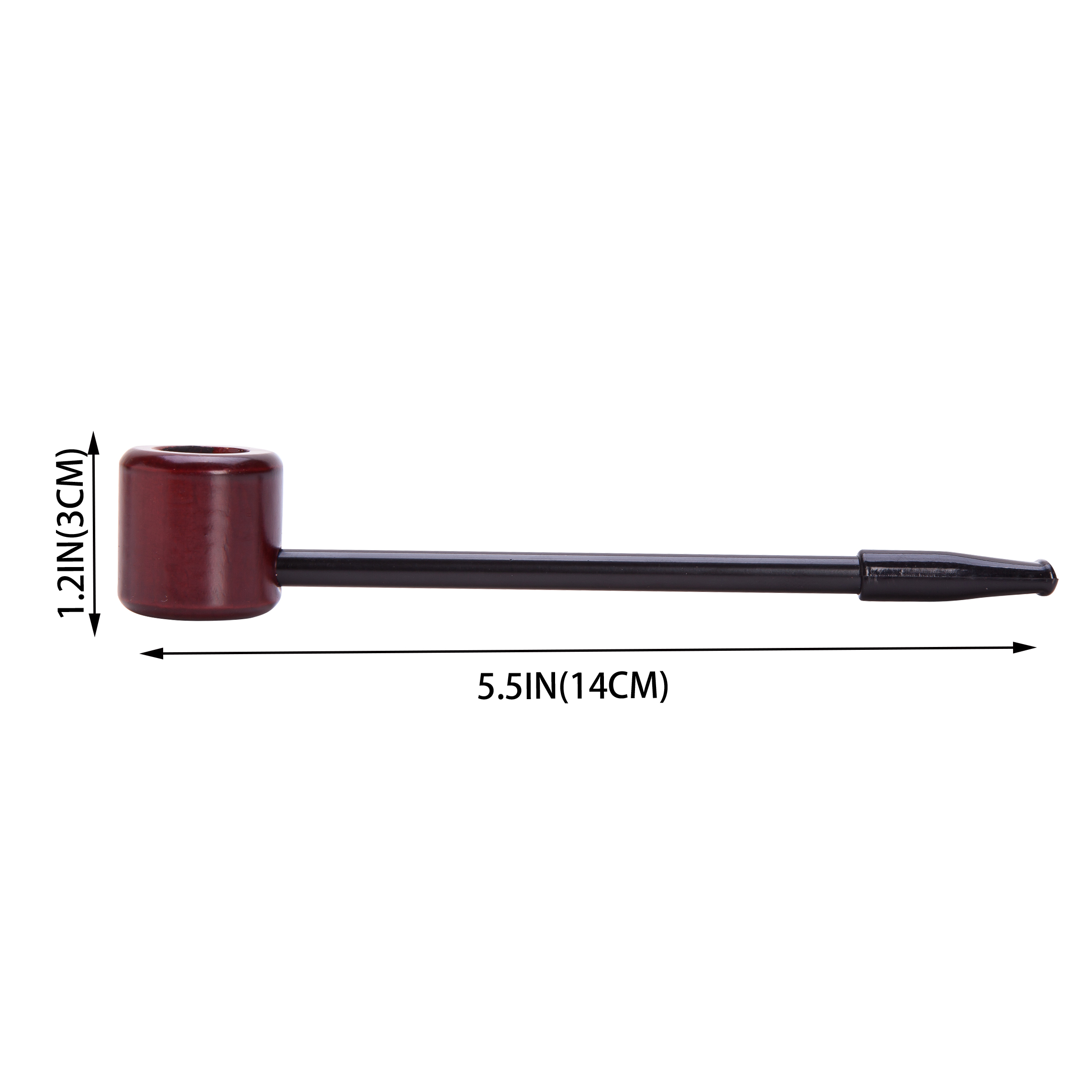 Durable light weight Straight Wooden Smoking Tobacco Pipe