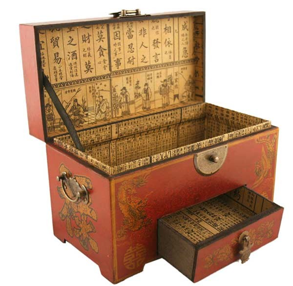 sc 1 st  moriental.com & Vintage Chinese Wooden Bead Arithmetic Abacus W. Storage Compartments