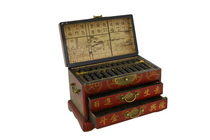 Ordinaire Vintage Chinese Wooden Bead Arithmetic Abacus W. Storage Case. Zoom