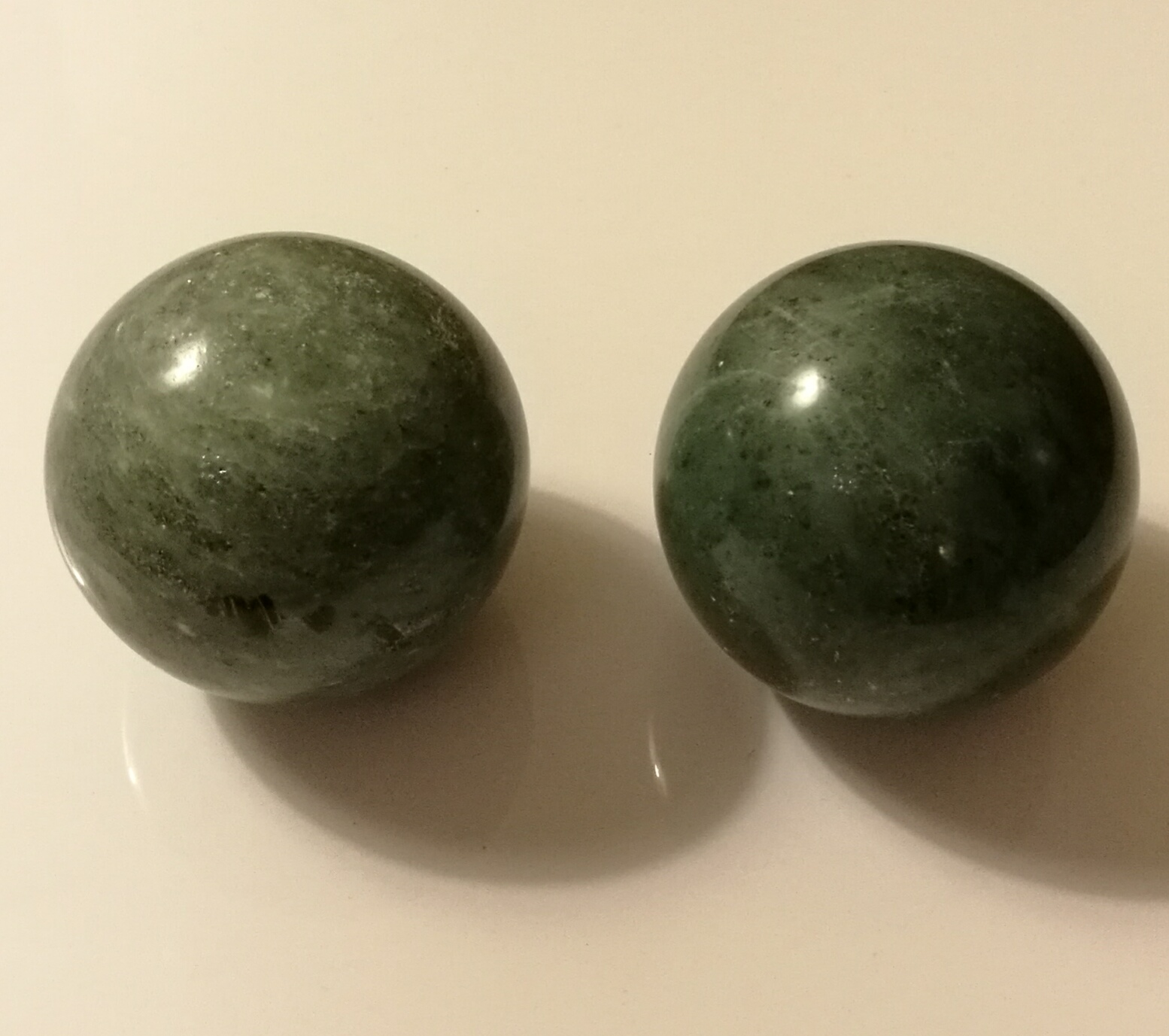 Blackish Jade Green Marble Stone Chinese Healthy Exercise