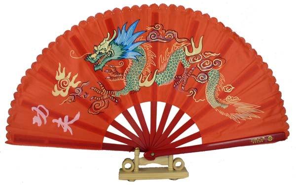 13quot Dragon Design Kong Fu Fan Red : FAN026 from www.moriental.com size 600 x 375 jpeg 53kB