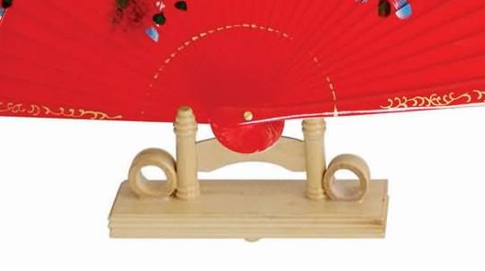 Hand Fan Stand : Bamboo hand fan stand for quot or fans not included