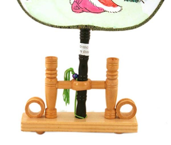 Hand Fan Stand : Bamboo hand fan stand for a silk palace only