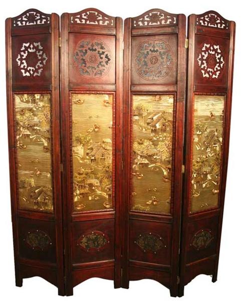 Http Www Moriental Com Vintage Oriental Style 4 Panels Screen Room Divider P 1575 Html