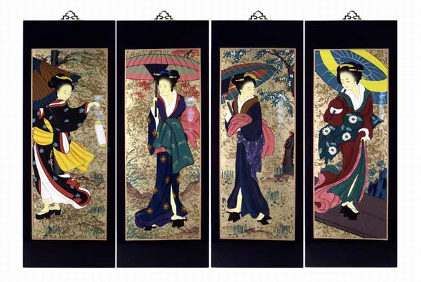 ... Wall Art Plaques (Japanese Geishaes) LG. Zoom