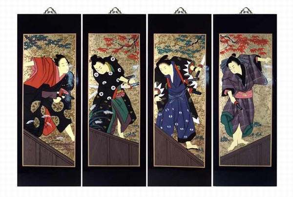 ... Wall Art Plaques (Japanese Samurai) LG. Zoom