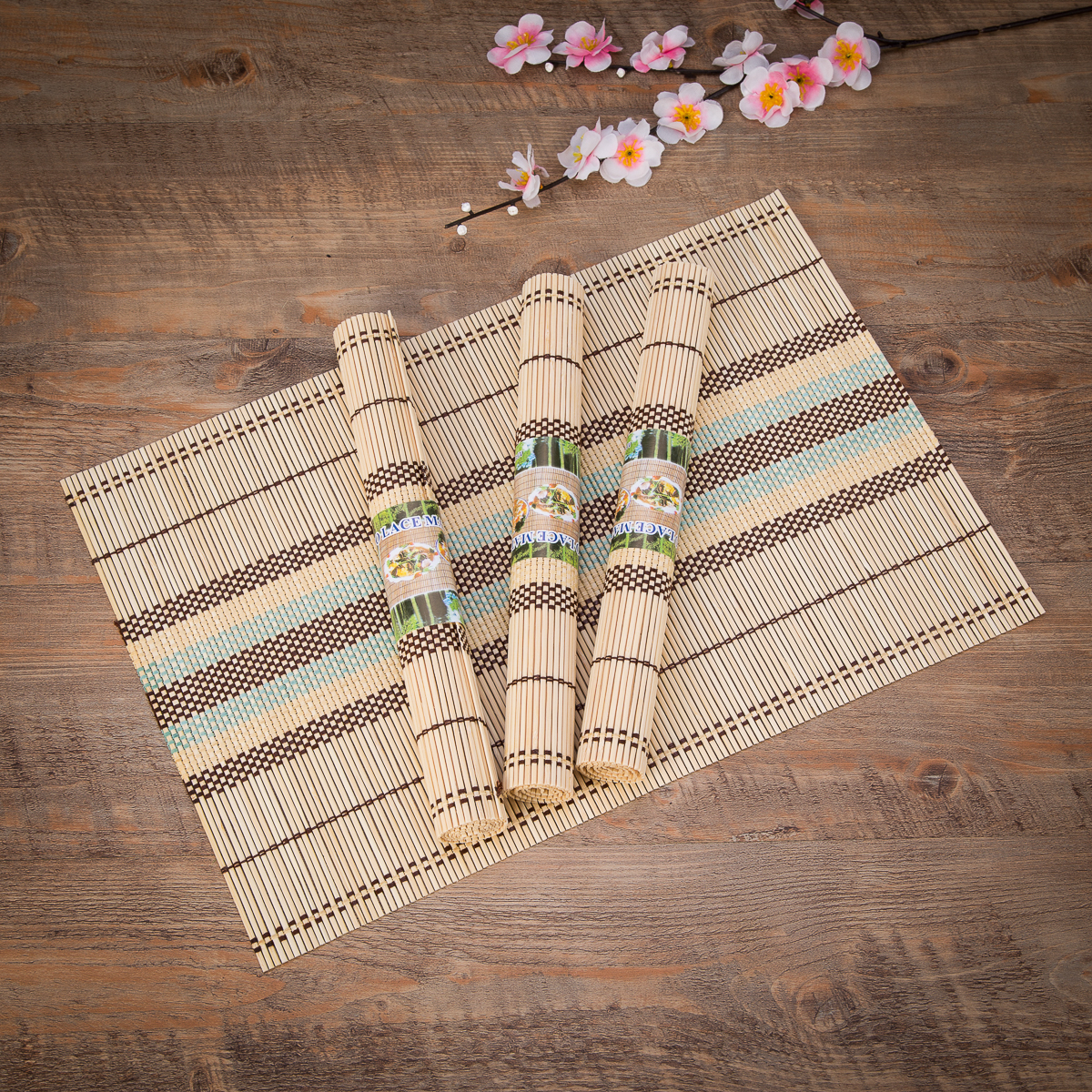Eco Friendly 18 Quot X 12 Quot Bamboo Table Place Mats Non Slip