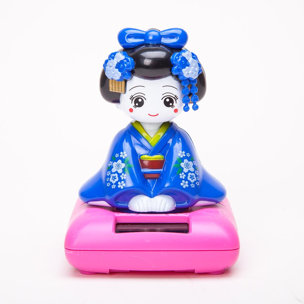 Solar Powered Bobblehead Toy Figure Japanese Kimono Maiko