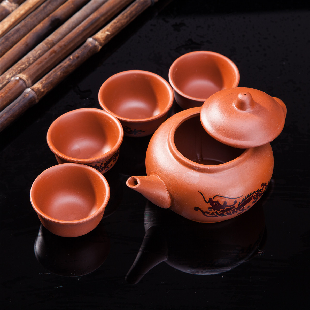 Copyright 2018 Thy Trading. All Rights Reserved. Import u0026 Wholesale Asian Oriental Furniture - Home decor - Gift u0026 Collectibles. & Exquisite 5 PCS Asian Dragon Design Purple Clay Tea Pot Tea Cups Set ...