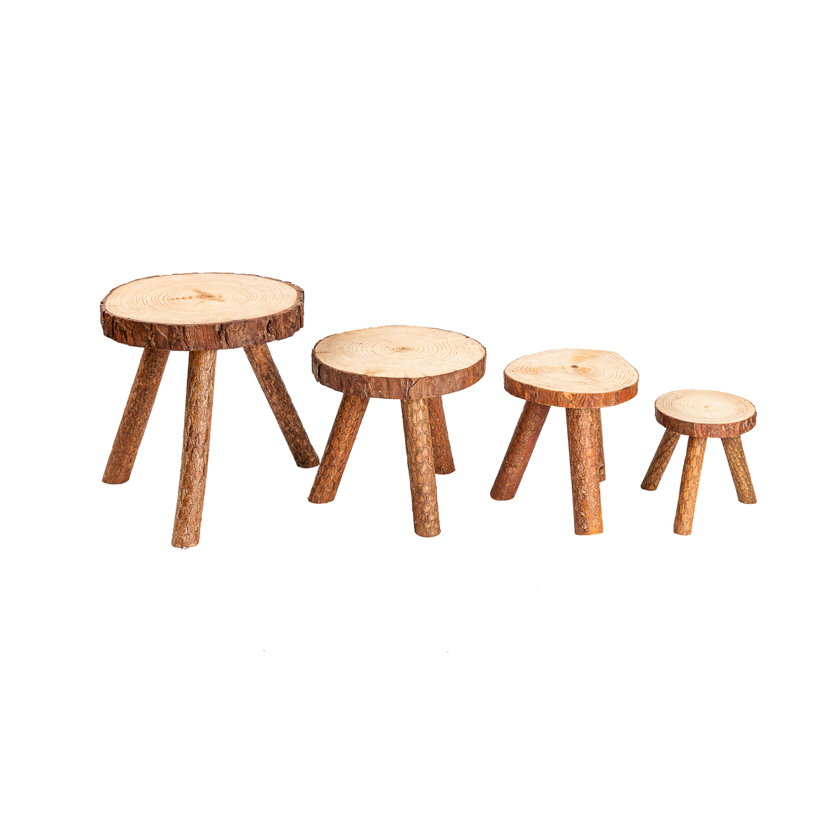 Enjoyable Rustic Tree Trunk Slices Wood Three Legged Plant Stand Vase Beatyapartments Chair Design Images Beatyapartmentscom