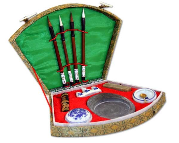 Chinese Calligraphy Brush Pen Seal Ink Set