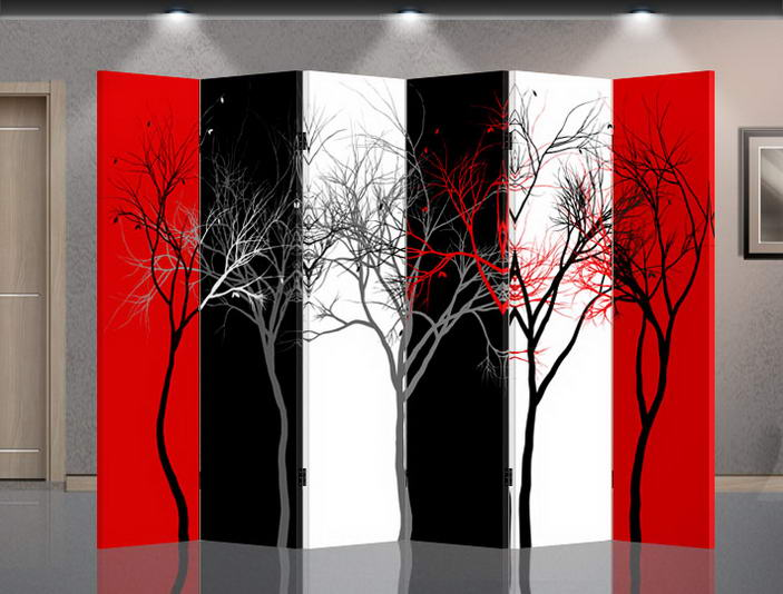 Double Sided Canvas Screen Room Divider