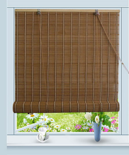 Roll Up Blinds : Bamboo roll up window blind sun shade w quot h