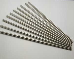 10 Pcs (5 Pairs) High Quality Tapered Silver Stainless Steel Chopsticks