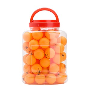 THY COLLECTIBLES 60-Pack 40mm Table Tennis Balls, Advanced Ping Pong Ball (Orange)