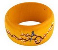 Exotic Tibetan Tribal Wooden Bangle Bracelet