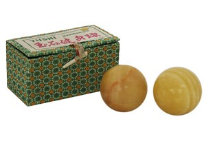 Yellow Stone Chinese Healthy Exercise Massage Balls