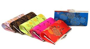Assortment Of 6 Oriental Girl's Purses 7""