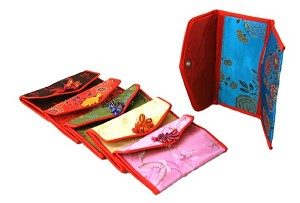 Assortment Of 6 Oriental Silk Holding Wallets