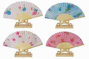 Assortment of one dozen (12) Oriental Feng Shui Hand Fan-LADY'S FAN