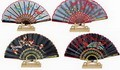 Assortment of one dozen (12) Oriental Feng Shui Hand Fan-EMBROIDERY FAN