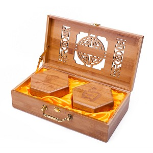 Collectible Wei Qi Go Game Set Melamine Single Convex Stones and  Bamboo Bowls Elegant Hollow Out Bamboo Storage Case