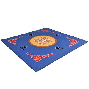 "Universal Mahjong / Paigow / Card / Game Table Cover - Blue Mat 31.5"" x 31.5"""