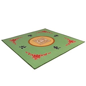 "Universal Mahjong / Paigow / Card / Game Table Cover - Green Mat 31.5"" x 31.5"""