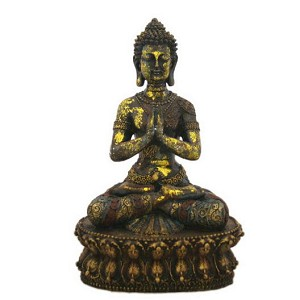 "Antique Reproduction 14"" High Buddha"
