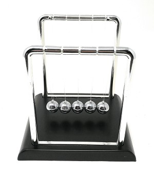 "THY COLLECTIBLES Newtons Cradle Balance Balls 7 1/4 inch Desk Top Decoration Kinetic Motion Toy for Home and Office (Large 7.25"")"