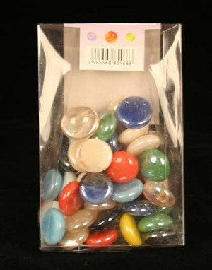 A Pack Of Ceramic Marbles In Various Colors