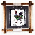 Chinese Zodiac Stamp Design Wall Plaque - Rooster