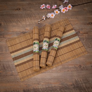 "Eco-Friendly 18"" x 12"" Bamboo Table Place mats Non-slip Table Decor Mats for Kitchen Dining Room Set of 4, Multi-colored by THY COLLECTIBLES"