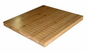 "1"" Reversible Solid Bamboo Go Game Board"