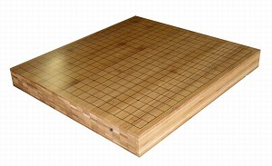 "2"" Reversible Solid Bamboo Go Game Board"