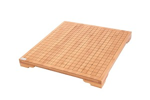 "3/4"" Solid Bamboo 19X19 Go Game Board With Built In Legs"