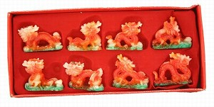 Fabulous Hong Tze Collection-Set Of Eight Color Dragons