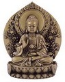 Hong Tze Collection-Golden Buddha RU LAI Sitting On Lotus