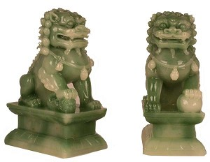 Hong Tze Collection-A Pair Of Jade Beijing Foo Dogs LG
