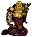 Hong Tze Collection-Buddha Grabbing Golden Chinese Coins (Dual Tone)