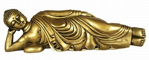 Hong Tze Collection-Golden Resting Buddha RU LAI