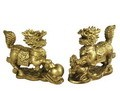 Hong Tze Collection-A Pair Of Brass Color Qi Lings