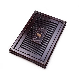 "Solid Wood Reservoir & Drainage Type Kung Fu GongFu Tea Table Serving Tray L22.23"" x W15.75"" x H2.36"""