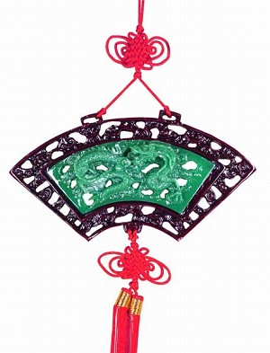 Chinese Knotting Wall Plaque Fan Shape Dragon