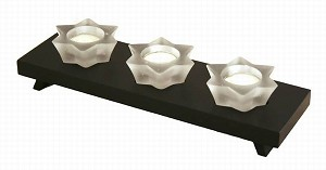 Decorative Candles & Holders Set With Wooden Stand YD12