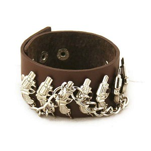 Stylish Leather Wrist Band Bracelet YX020