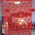 String Curtain Drapery Room Divider Partition RED