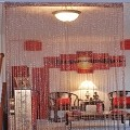 String Curtain Room Divider Partition BURGUNDY