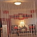 String Curtain Room Divider Partition GOLDEN