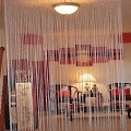 String Curtain Room Divider Partition SILVER